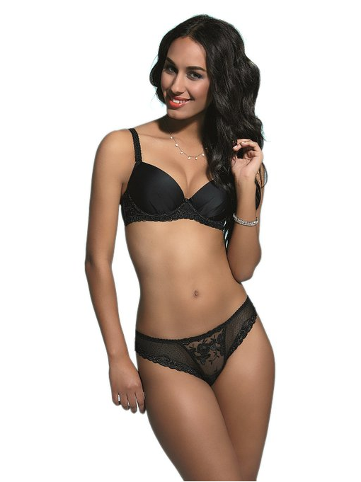 Black Brilliant Push Up Bra