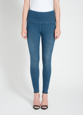 Lysse Mid Wash Denim Tight Ankle Leggings