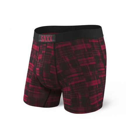 Saxx Vibe Boxer Brief Red Patched Plaid