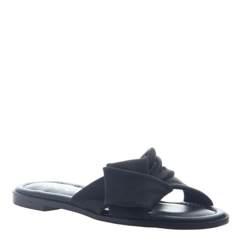 Black Effie Flat Sandals