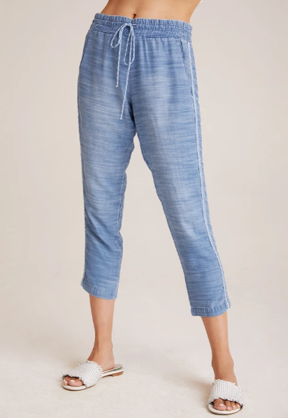 Double Stripe Pull on Pants Oceanside Wash