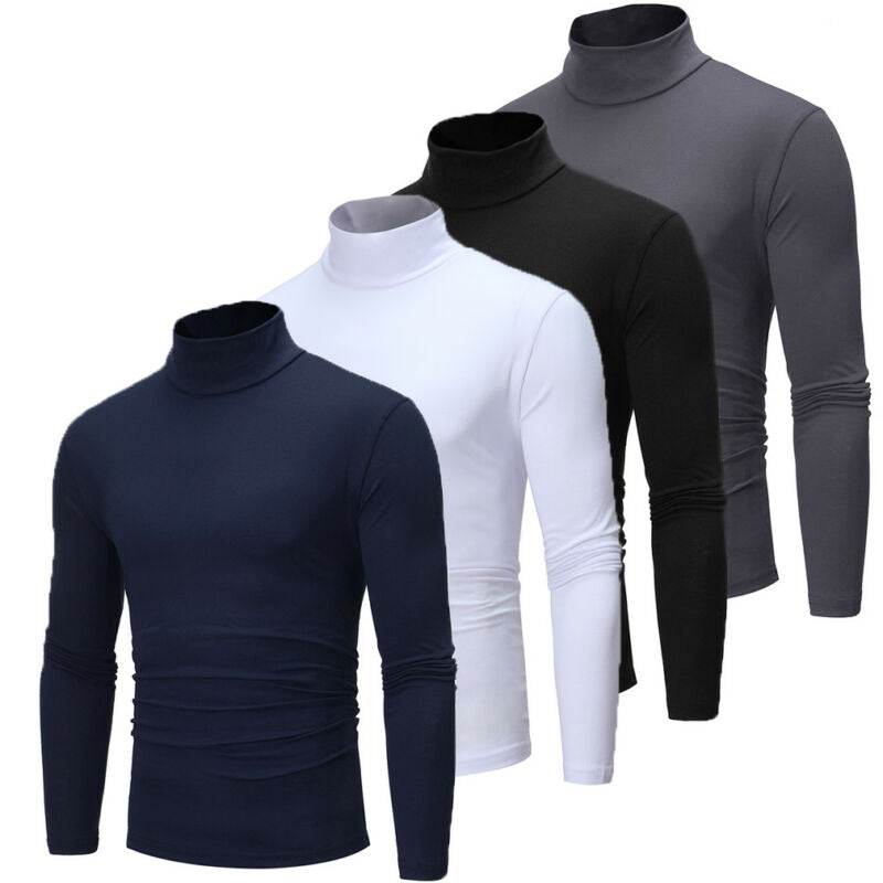 Cotton Long Sleeve Turtleneck Shirt