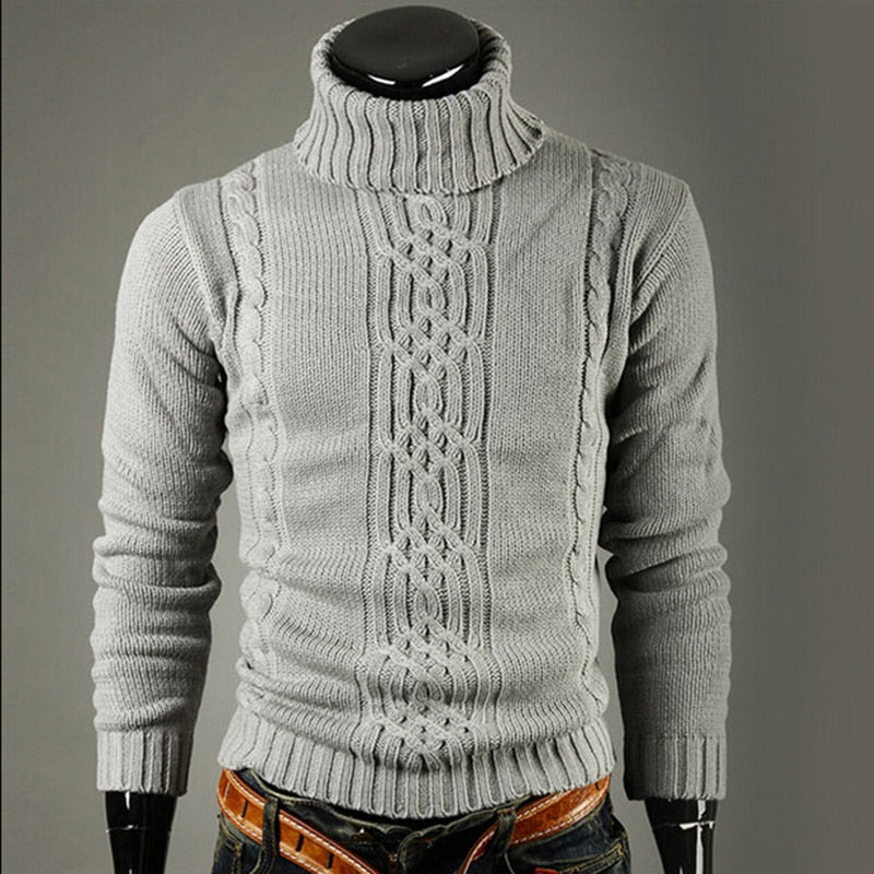 Men's Knitted  Long Sleeve Turtleneck