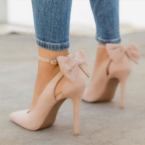 Open image in slideshow, Fashionable Bow Stiletto High Heel