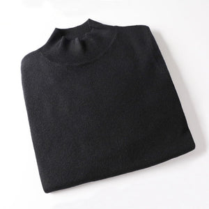 Open image in slideshow, Cashmere Knitted Pullover Turtleneck