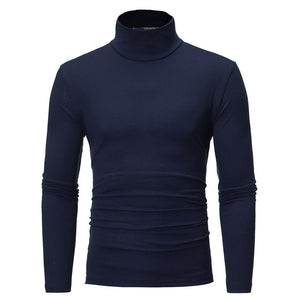 Open image in slideshow, Cotton Long Sleeve Turtleneck Shirt