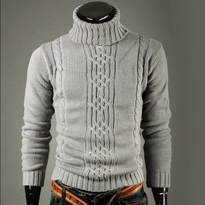 Open image in slideshow, Men's Knitted  Long Sleeve Turtleneck