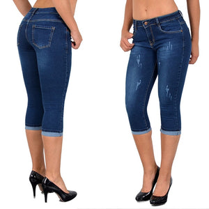 Open image in slideshow, Calf Length Jeans