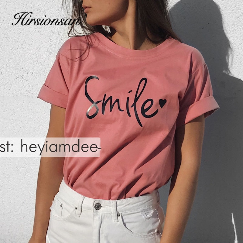 "Casual ""Smile"" T-Shirt"