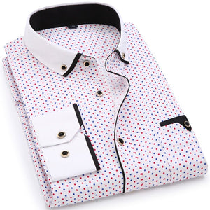 Open image in slideshow, Casual Long Sleeved Printed Slim Fit Shirt