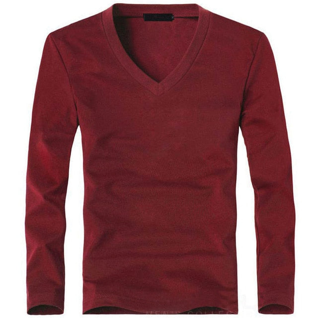 Men's V-Neck Long Sleeve