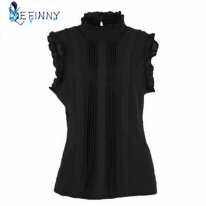 Open image in slideshow, Ruffle Slim Fitted Shirts