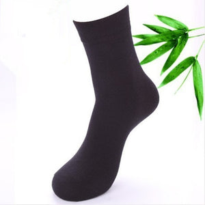 Open image in slideshow, High Quality Cotton & Bamboo Fiber Men's Dress Socks