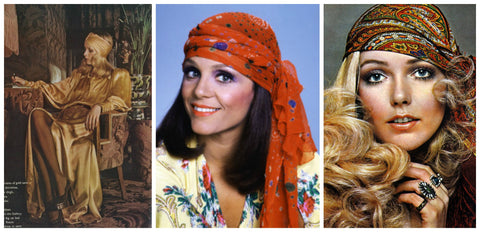 1970's Head Scarves