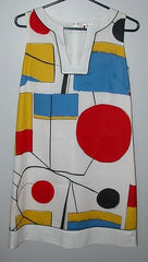 Vera Neumann Shift Mod 1960's Dress