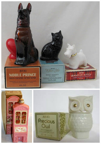 Vintage Avon Bottles with Boxes