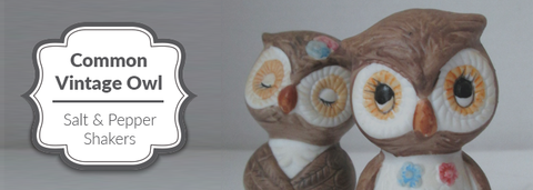 Common Vintage Owl Salt and Pepper Shakers