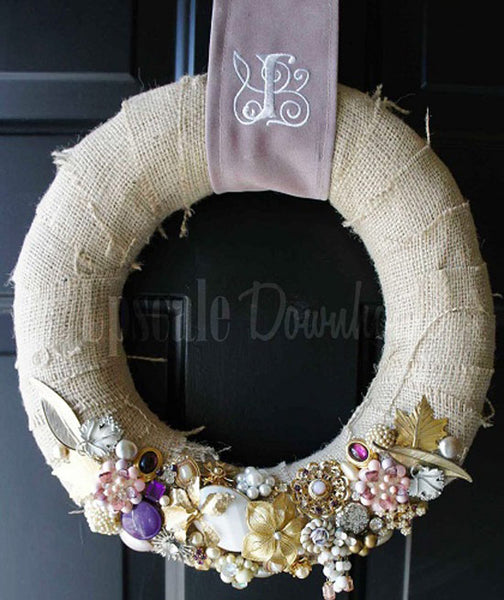 Vintage Brooch Wreath