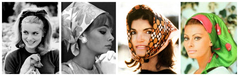 Early 1960's Head Scarves