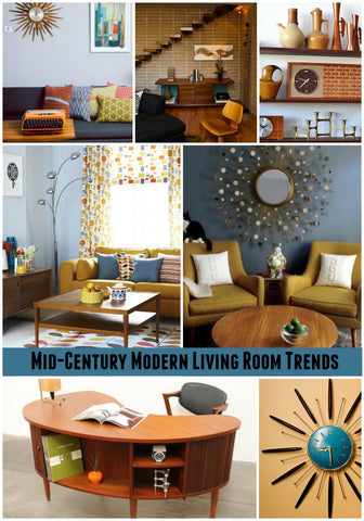 mid century modern living room trends - Mid Century Decor