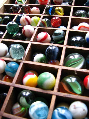 Painters Tray with Marbles