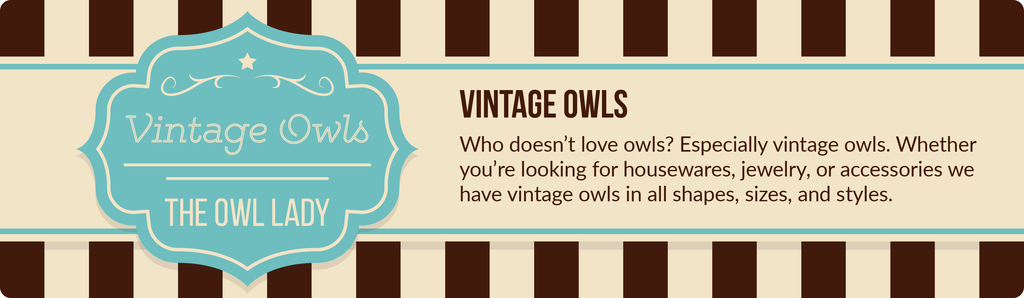 Vintage Owls by The Owl Lady only on VintageVirtue.net
