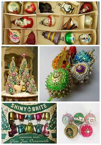 Vintage 1950's Christmas Ornaments