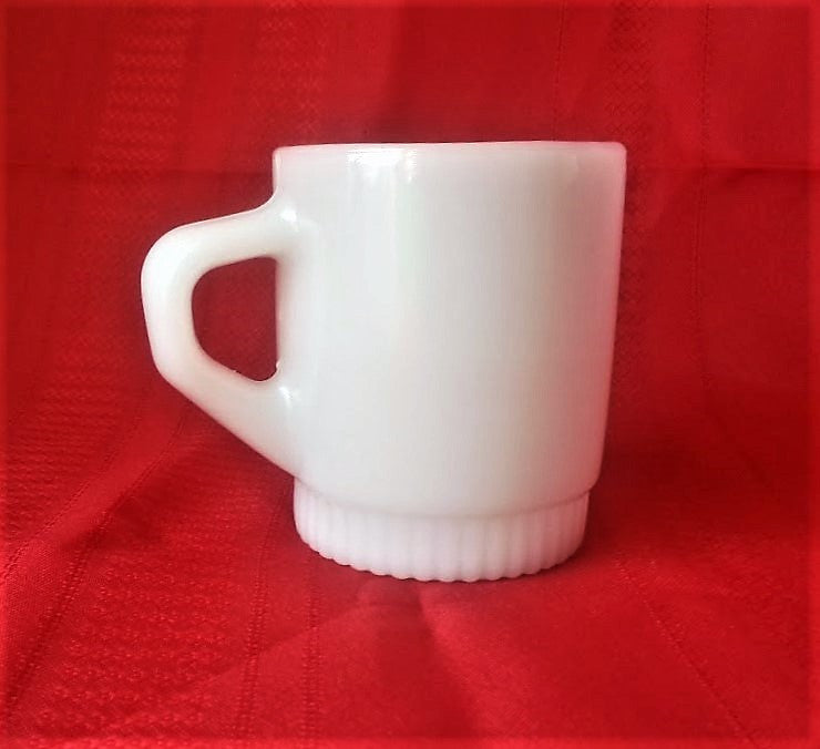 vintage fire king white mug