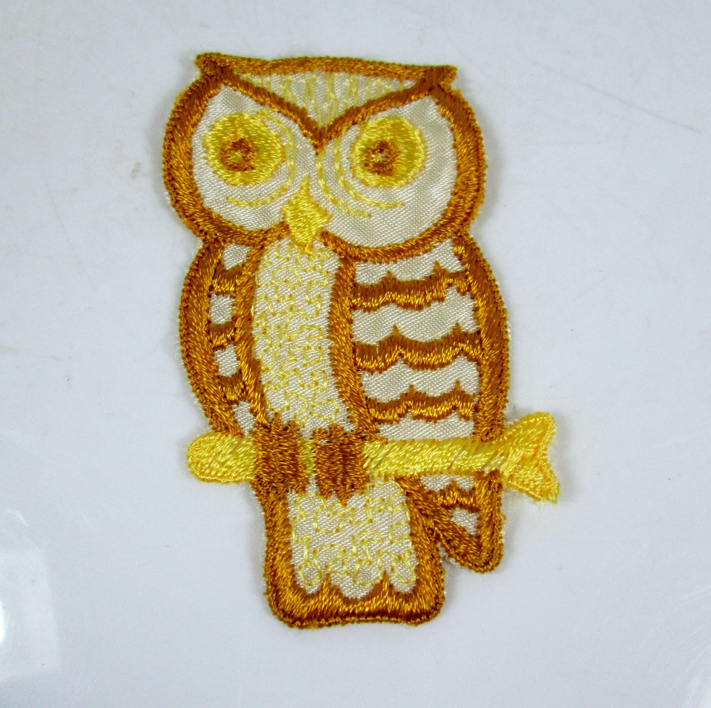 vintage owl patch sew on