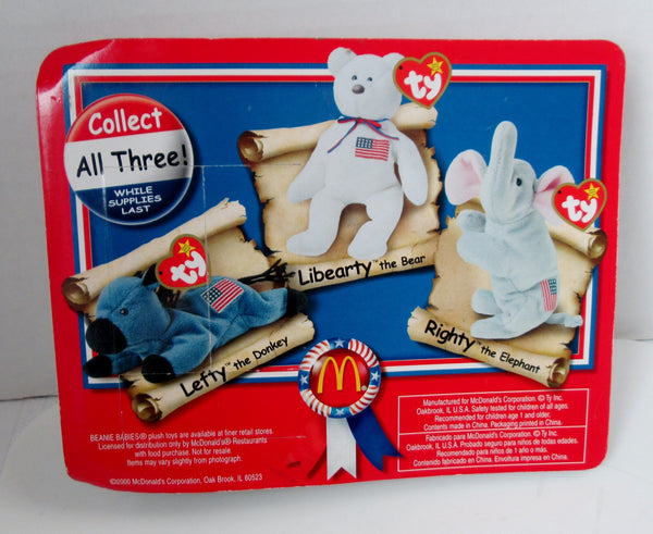 Ty Beanie Babies American Trio For Mcdonald S 2000