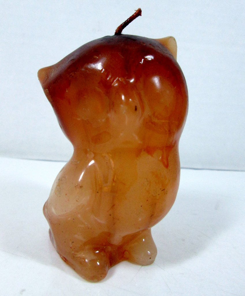 Vintage Owl Candle Ombre Colored Wax