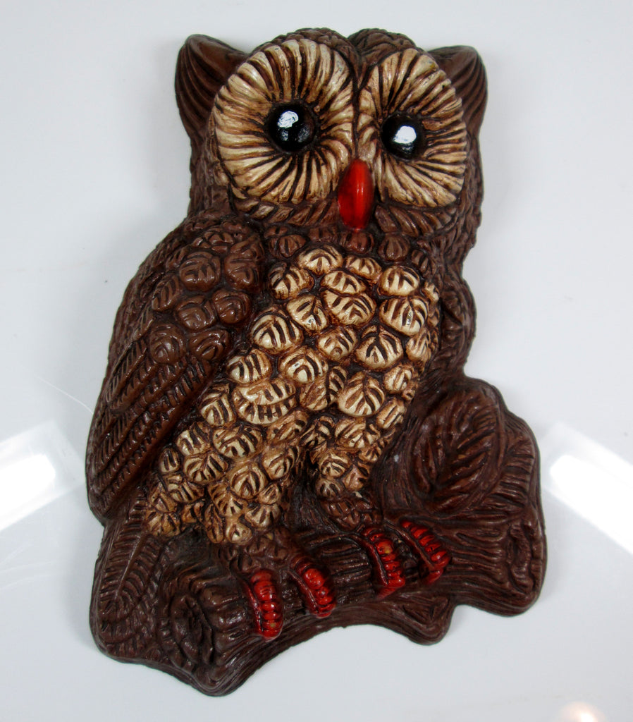 Vintage Brown Owl Wall Plaque