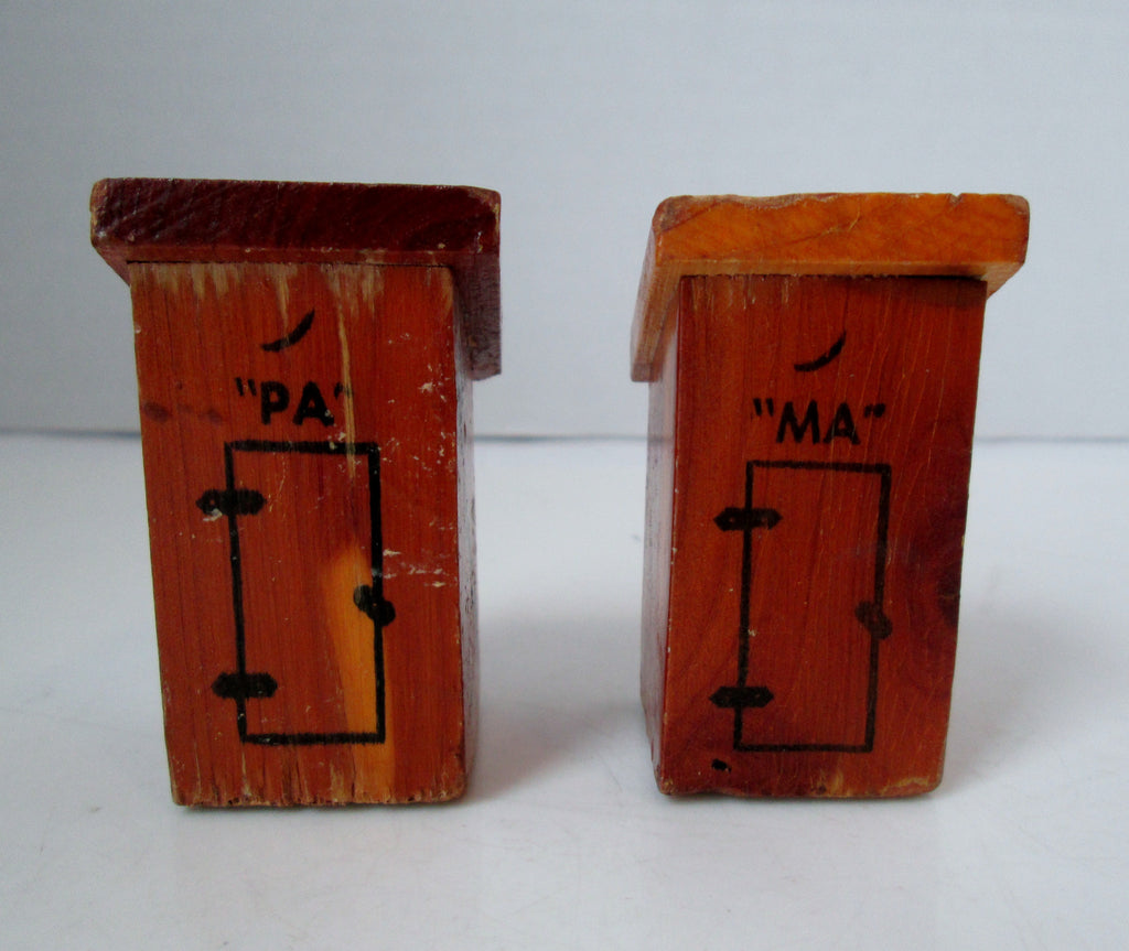 Vintage Las Vegas Souvenir Out House Salt and Pepper Shakers