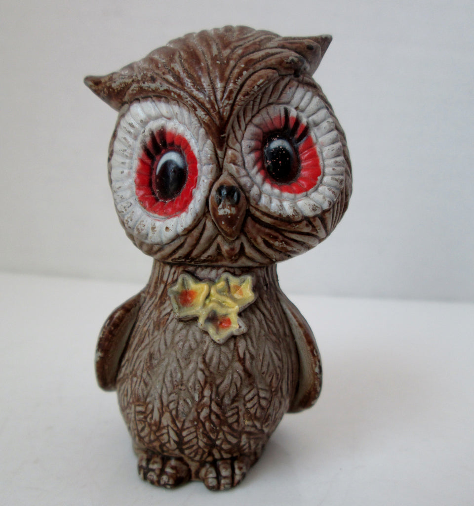 Vintage Brown Owl Single Salt and Pepper Shaker Plastic