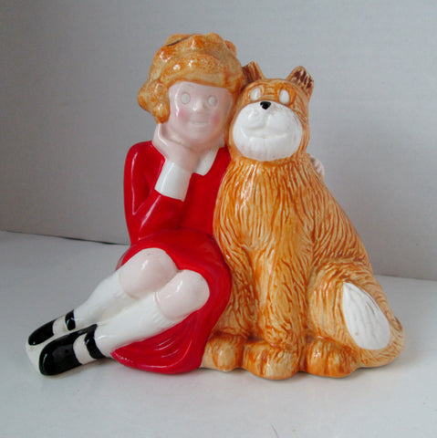 Vintage Little Orphan Annie Bank 1982 by Applause