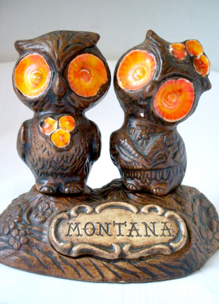 Vintage Owl Salt and Pepper Shakers Treasure Craft