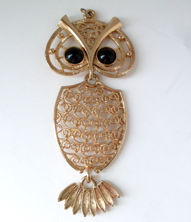 Sarah Coventry Vintage Owl Necklace