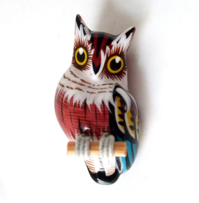 Vintage Owl Brooch 1970s Reproduction Takahashi Bird