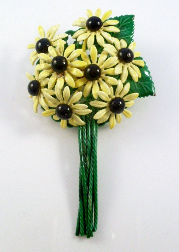 Vintage Brooch Yellow Daisy Flower Bouquet – Vintage Virtue