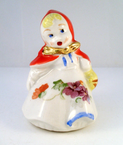 Vintage Hull Little Red Riding Hood Single Salt Shaker Purple Flower