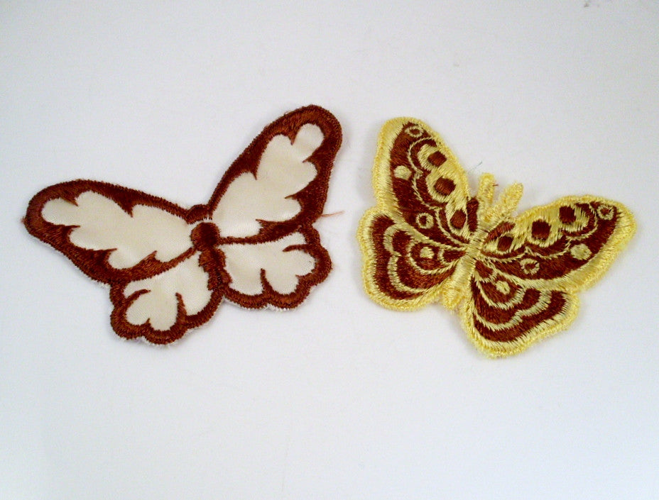 vintage butterfly sew on patch