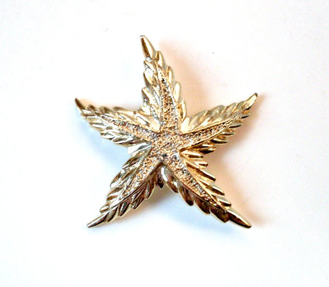 Vintage Starfish Brooch Gold-tone