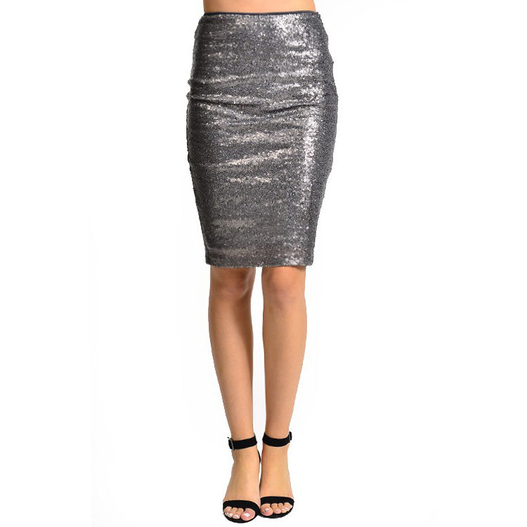 Load image into Gallery viewer, Sequin Pencil Skirt