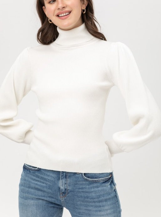Load image into Gallery viewer, Layla Turtleneck Ribbed Top