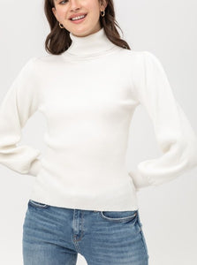 Layla Turtleneck Ribbed Top