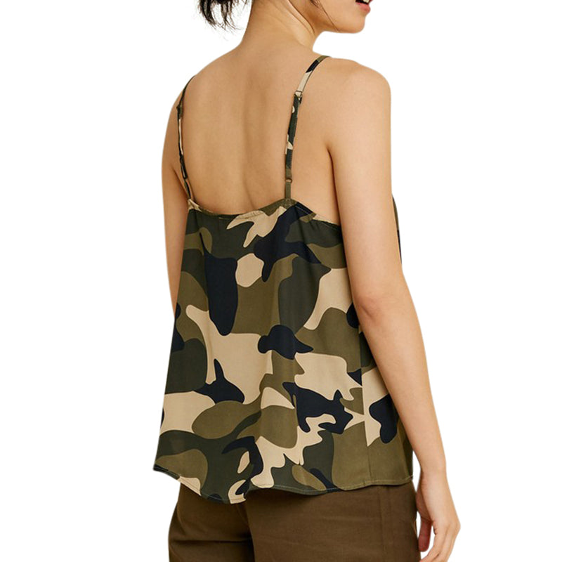 Load image into Gallery viewer, Army Green Camouflage Cami