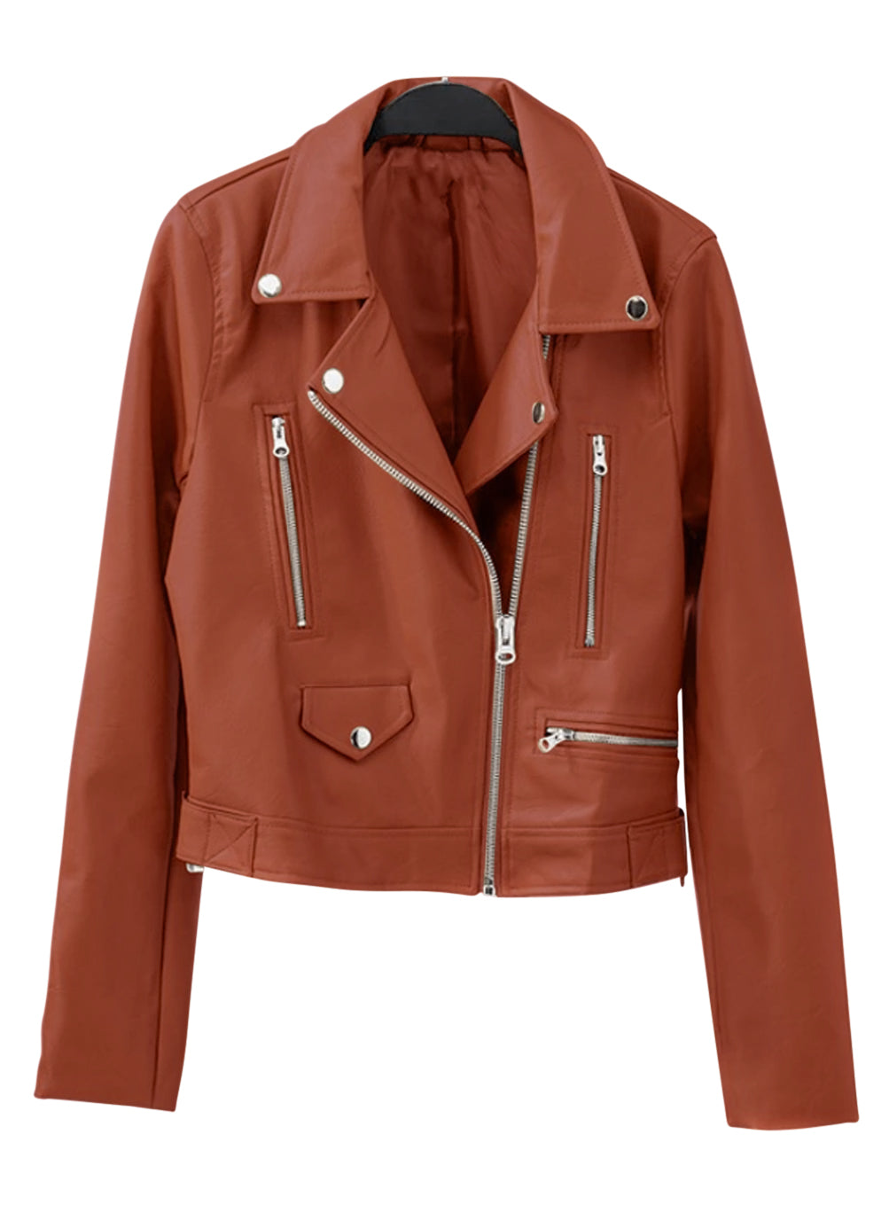Light Brown Vegan Leather Jacket
