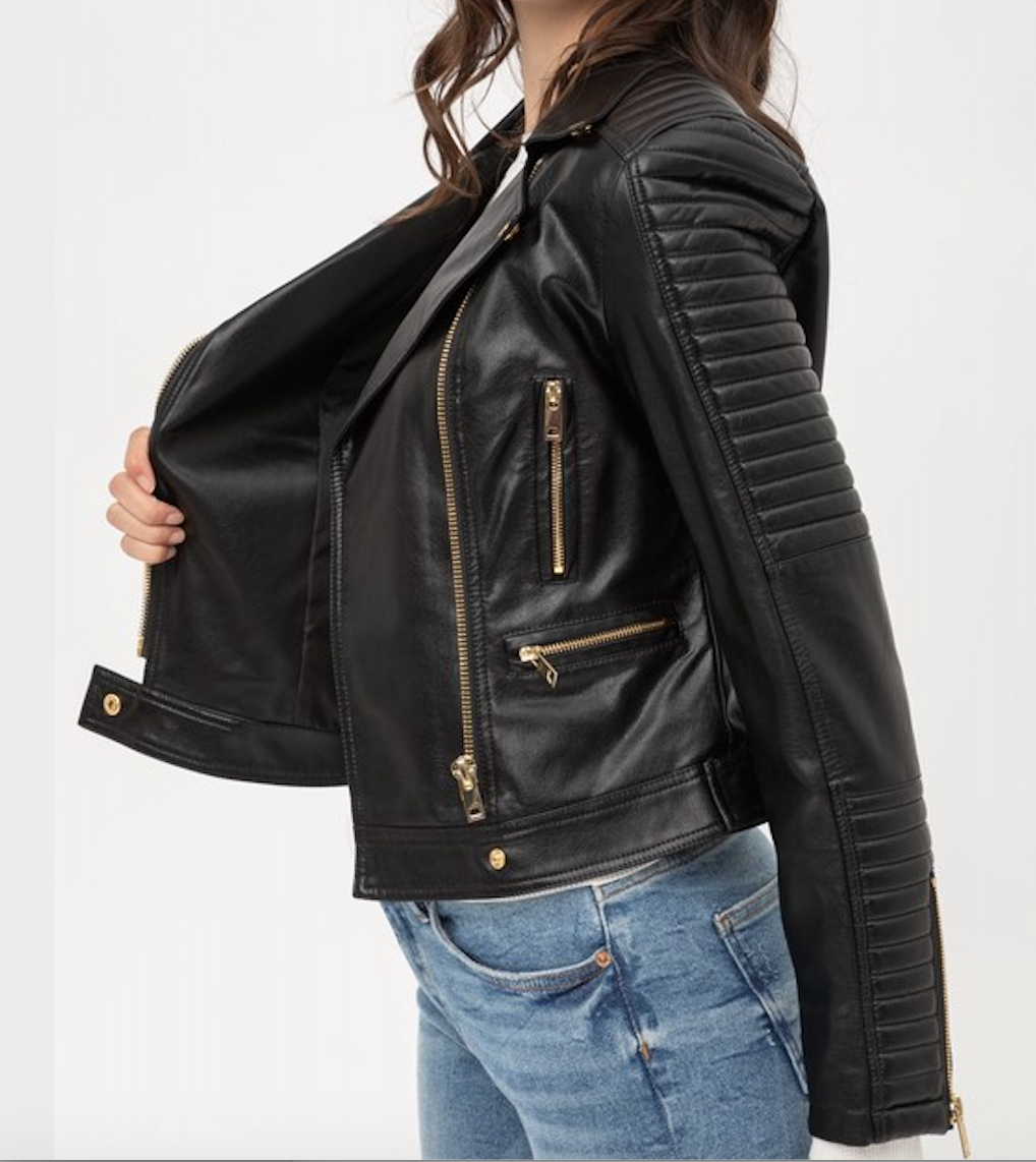 Load image into Gallery viewer, Lindsay Moto Jacket