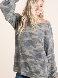Bianca Soft Camo Top
