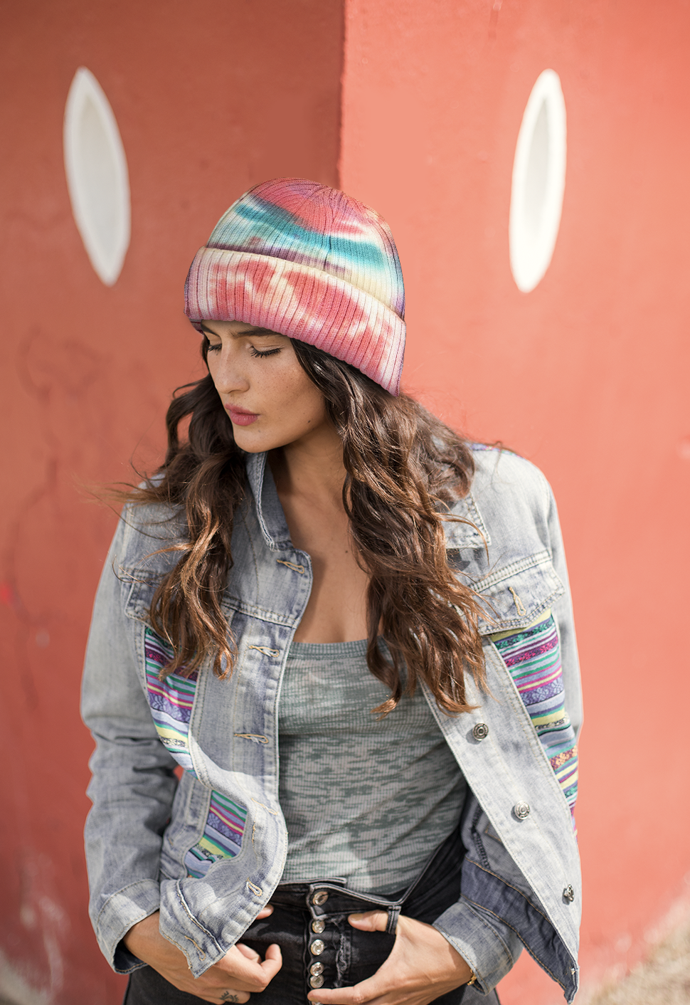 Load image into Gallery viewer, Coral Tie Dye Beanie